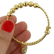 American Designs 14K Gold-Plated Bangle Bracelet Expandable Adjustable Baby Kids Jewelry
