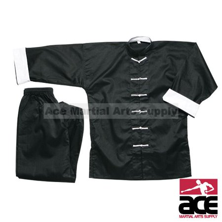 White Button Kung Fu Uniform, -