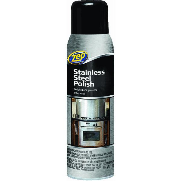 Zep Commercial Stainless Steel Cleaner, 14 oz