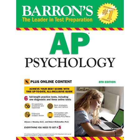 Barron's AP Psychology with Online Tests (A1134 Ap)