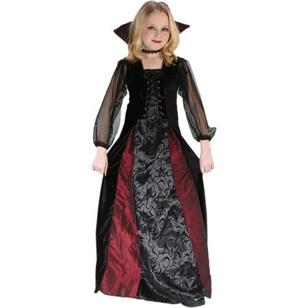 Fun World Goth Maiden Vampiress Child Halloween Costume - Vampiress Costume Ideas