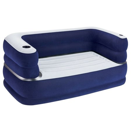 Bestway 65 x 35 x 25 Inches Deluxe Inflatable Air Couch, Navy Blue |