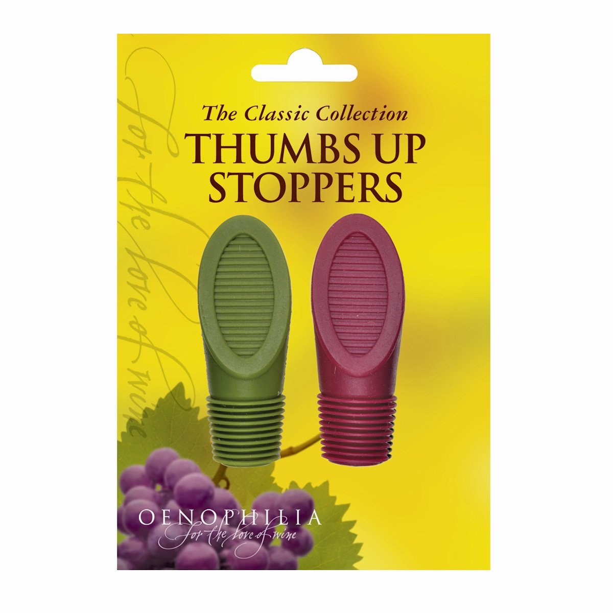 Thumbs Up Wine Bottle Stoppers - Pack of 2, Assorted Colors