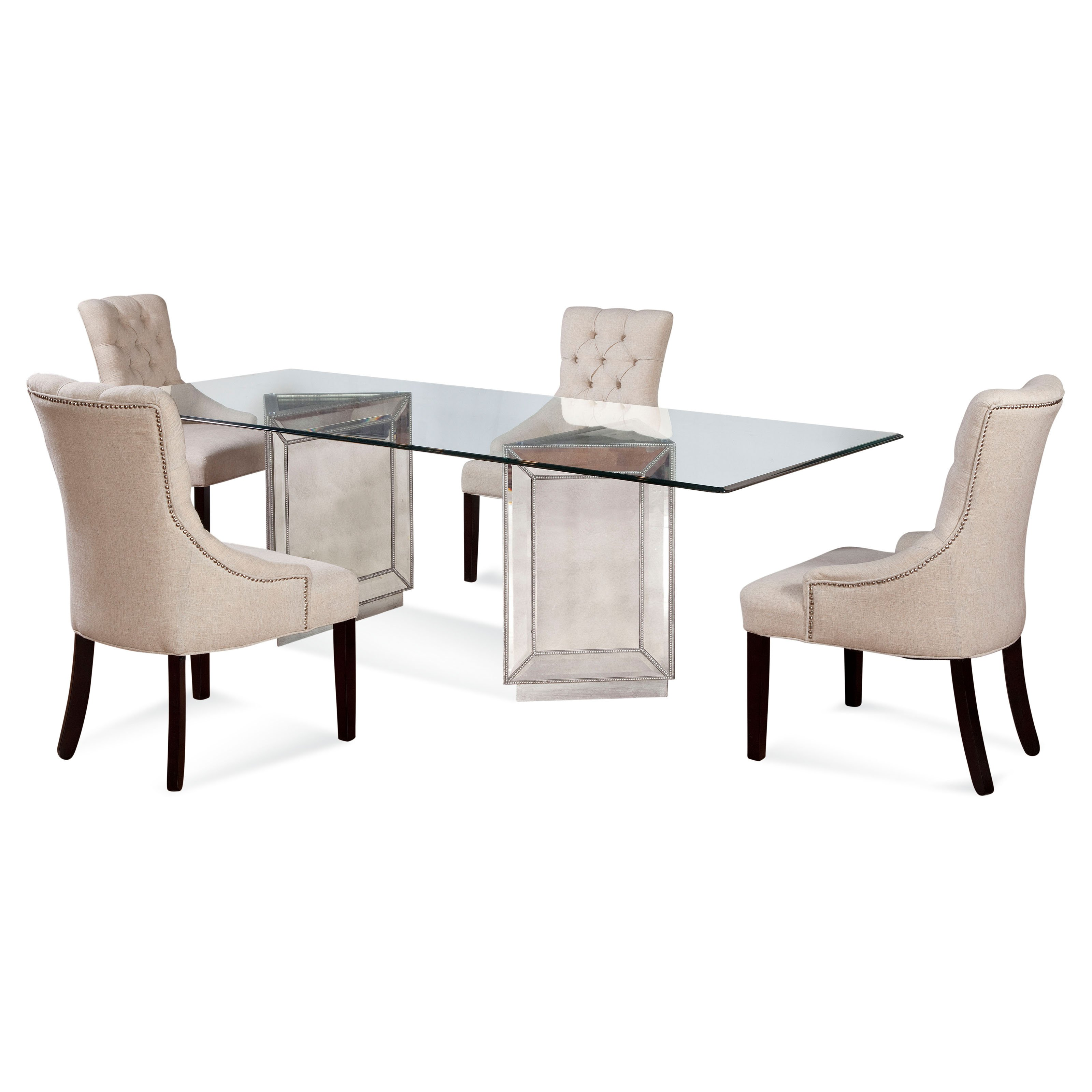 Bett Mirror 5 Piece Murano Dining Table Set With Fortnum Chairs