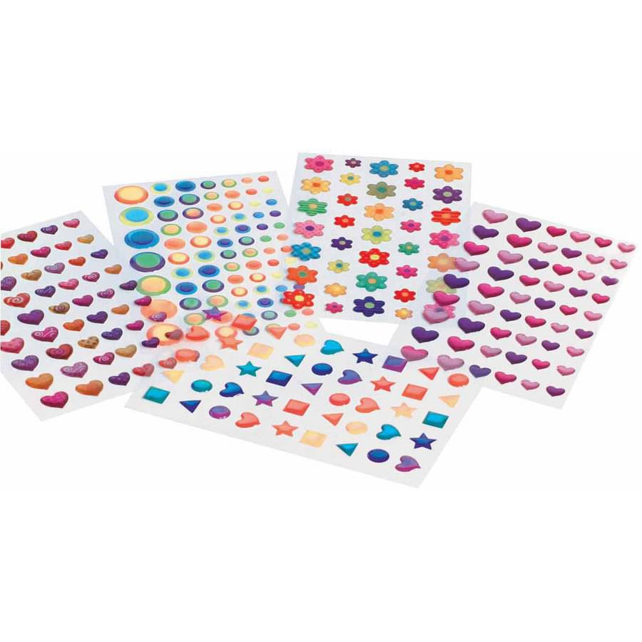 Chenille Kraft Peel and Stick Gemstone Assortment, 271 Pieces