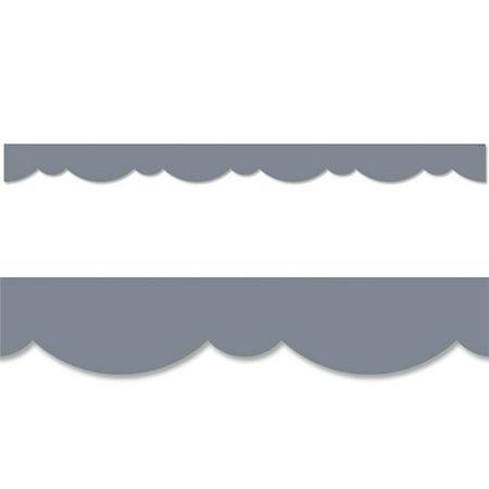 Creative Teaching Press CTP8564 Charcoal Gray Stylish Scallops Border