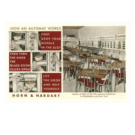 - Explanation of an Automat, Horn and Hardart, New York City Print Wall Art