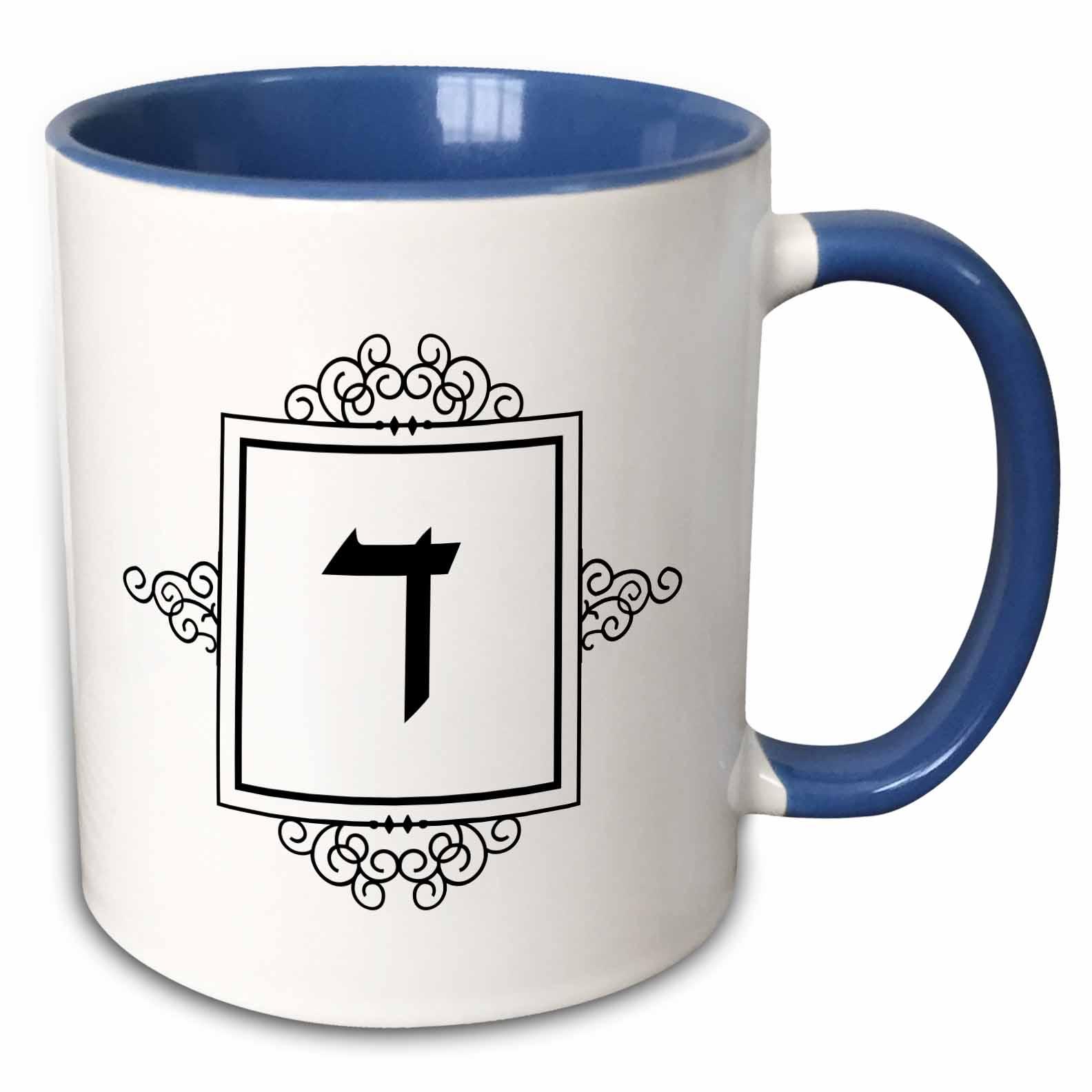 Hebrew Alphabet Ceramic Mug 12 oz.
