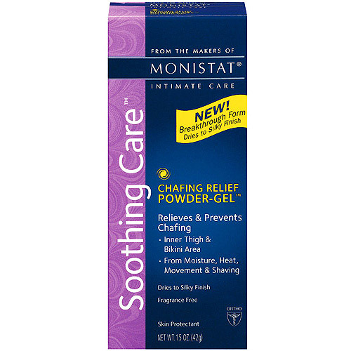 Monistat Soothing Care Chafing Relief Powder-Gel, 1.5-Ounce Tubes (Pack of 3)