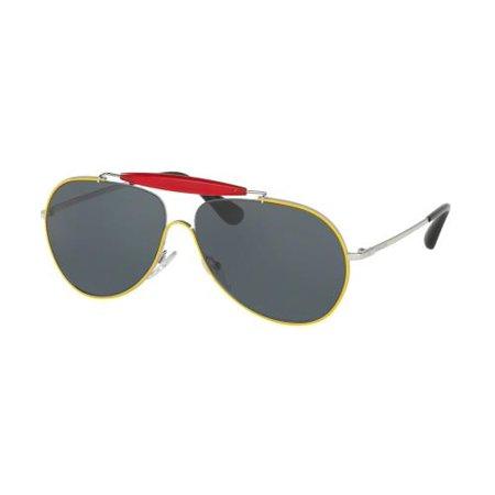 PRADA Sunglasses PR56SS UFR2K1 Top Yellow/Silver 59MM