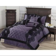 Exceptional Sheets Victoria 7-Piece Floral Flocking Comforter Set