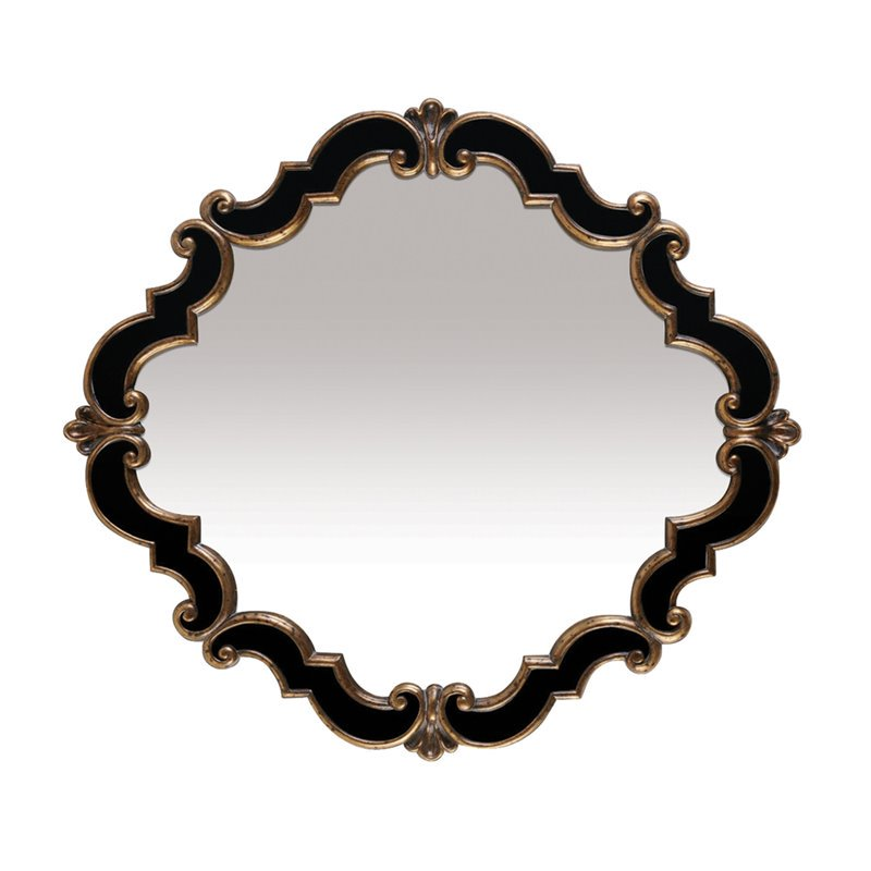 Sterling Frederick Decorative Mirror in Black and Gold