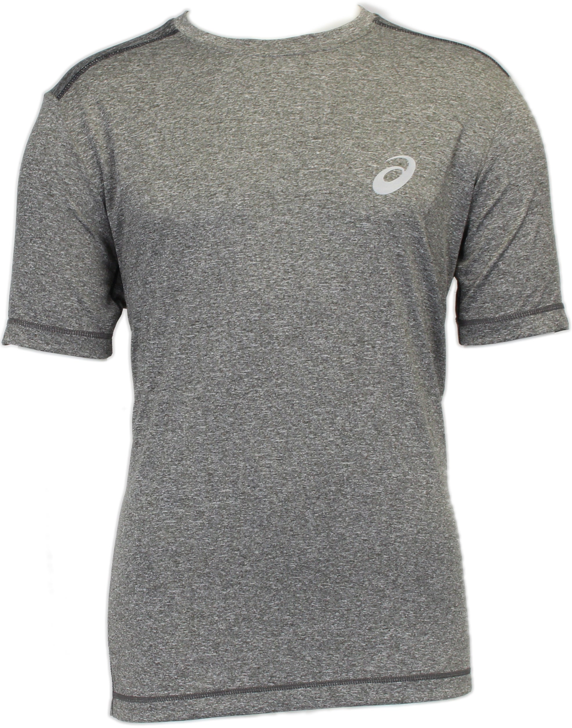 Blue asics Mens Large Logo Running Sports Gym Short Sleeve Cotton T-Shirt