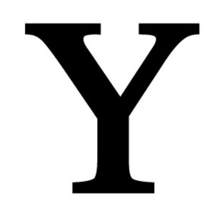 Letter Y Black METAL 12 Inch Wrought Iron Signage Home Wall Art Plaque Name Sign Decoration