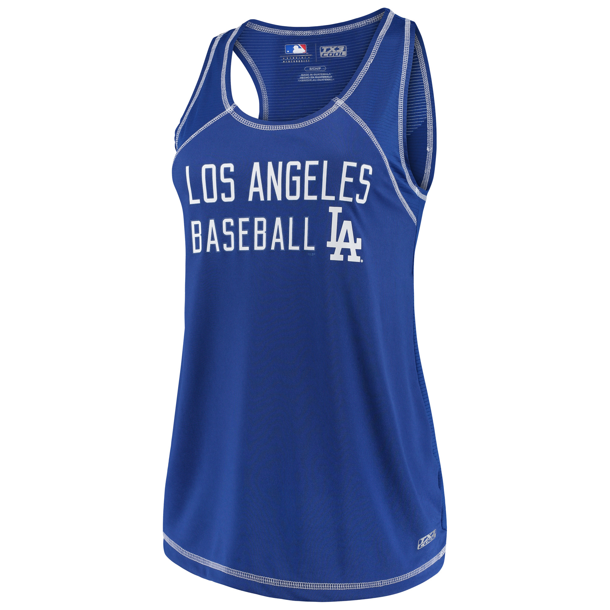 Women's Majestic Royal Los Angeles Dodgers TX3 Cool Fabric Scoop Neck Tank Top