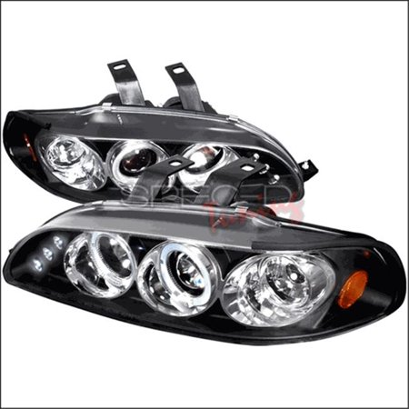 Spec-D Tuning 2LHP-CV923JM-TM Halo LED Projector Headlights for 92 to 95 Honda Civic, Black - 10 x 20 x 25 in. - image 1 of 1