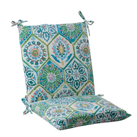 36 5 psychedelic blue outdoor patio squared chair cushion. Black Bedroom Furniture Sets. Home Design Ideas