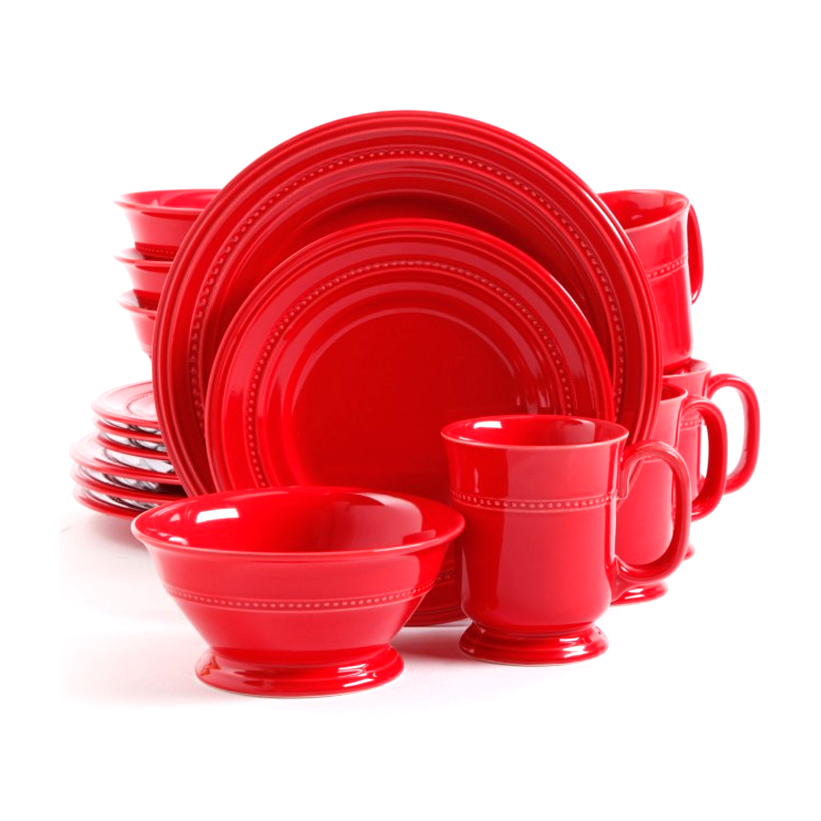 sc 1 st  Walmart.com & Gibson Barberware 16 Pc Dinnerware Set - Red - Walmart.com