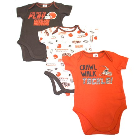 NFL Cleveland Browns Baby Short Sleeve Bodysuits, -