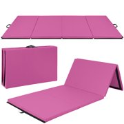 Best Choice Products 8ft Folding Exercise Gym Mat for Gymnastics, Aerobics, Yoga, Martial Arts Pink by
