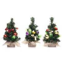 Mini Desk Top decoration Christmas Tree With Balls & Baubles Ornaments Decorations