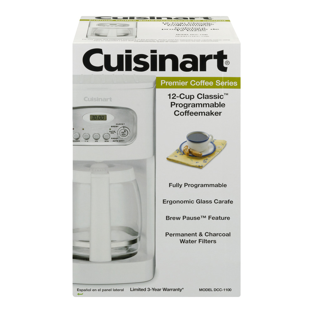 Cuisinart Brew Central 12-Cup Programmable Coffeemaker, White (Manufacturer Refurbished)