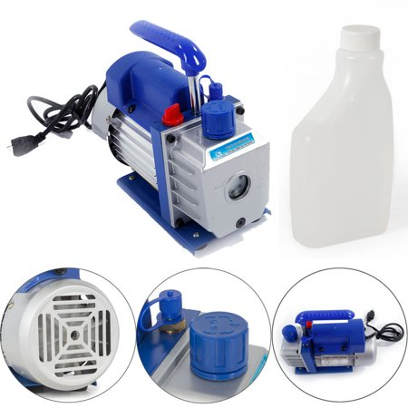 Zimtown 3Cfm 1/4Hp Rotary Vane Vacuum Pump, for Single Stage A/C Deep HVAC Air Conditioning, Perfect for Vacuum Sealing Jars, Preserving Food, Degasification, Hot-forming Plastic - image 6 of 7