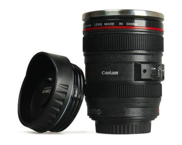 Camera Lens Coffee Travel Cup