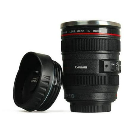 Camera lens coffee travel cup for Photo lens coffee cup