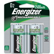 Energizer Nimh E2 Rechargeable D Batteries - D - Nickel Metal Hydride [nimh] (nh50bp2ct)