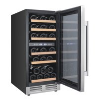 "Avanti WCF282E3 Stainless Steel 28 Bottle 15"" Wide Built-In Dual Zone Wine Cooler"