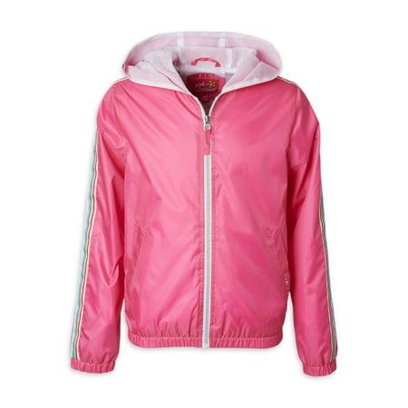 Pink Platinum Baby & Toddler Girls Rainbow Detail Windbreaker Jacket (Sizes 12M-4T) Toddler Girls Jacket
