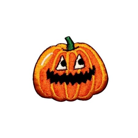 ID 0801C Jack O Lantern Alive Patch Halloween Scary Embroidered Iron On Applique - Scary Halloween Jack O Lanterns