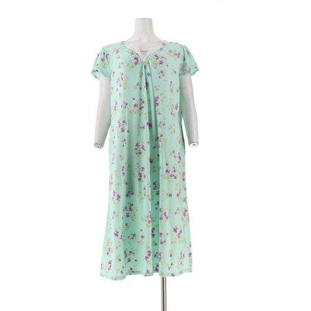 Carole Hochman Watercolor Bouquet Cotton Jersey Long Gown Women's A302157