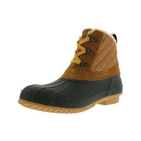 Khombu Women's Dixie Tan / Navy High-Top Snow Boot - (Khombu Brown Boots)