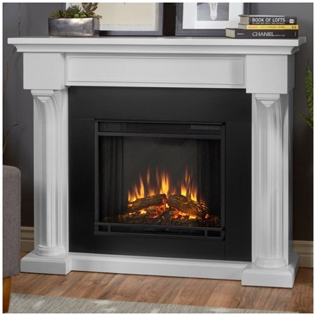 Real Flame Verona Indoor Electric Fireplace In White At Winter Supply Store
