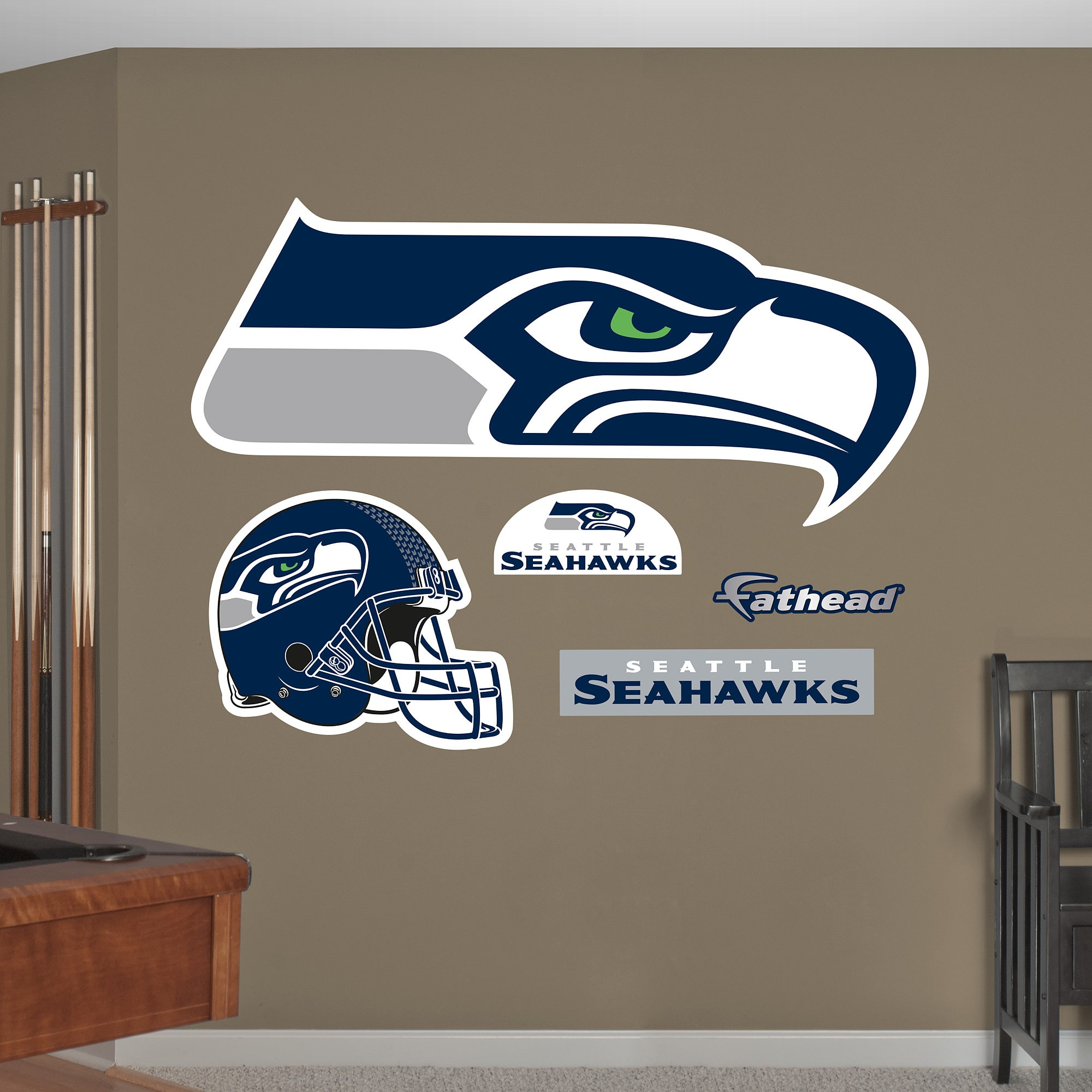 Fathead seattle seahawks logo wall decals walmart amipublicfo Images