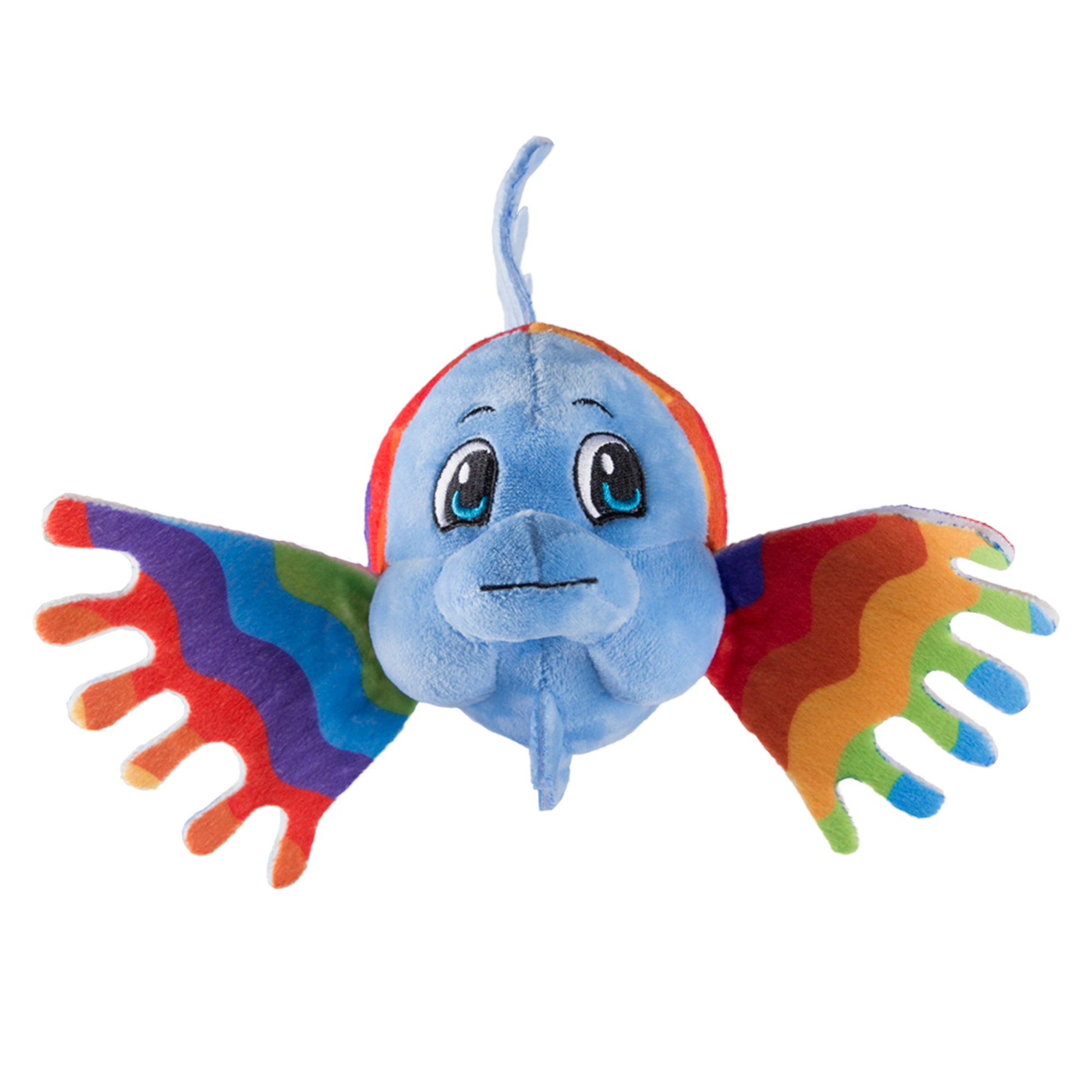 Fin Fun Picasso the Rainbow Fish Plush Toy- Mermaid Fin Friend Stuffed Animal