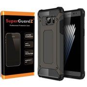 For Samsung Galaxy Note 5 Case, SuperGuardZ Slim Heavy-Duty Shockproof Protection Cover Armor [Black]