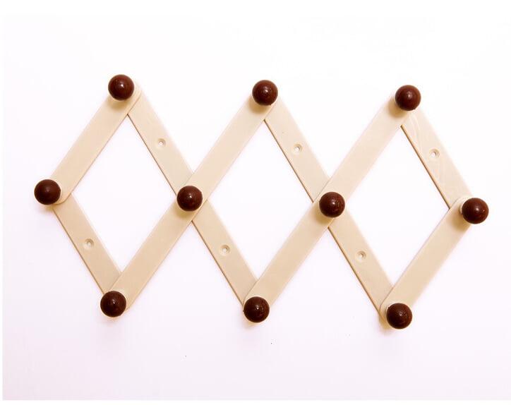 RAM-PRO Accordion Style Wood Expandable Rack Hat Cap Umbrella Coffee Mug Wall Wooden Pegs Belt