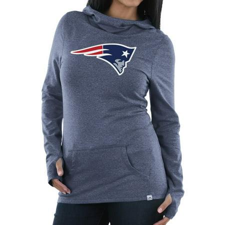 9f989f22 New England Patriots Women's Majestic NFL Great Play Cowl Neck Hooded  Sweatshirt