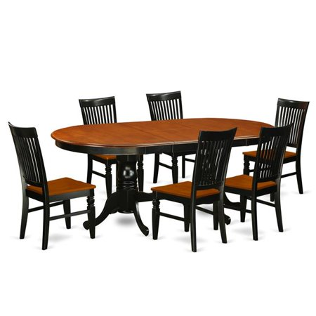Kitchen Table Set With A Dining 6 Chairs 7 Piece Black Cherry
