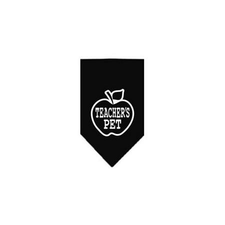 Teachers Pet Screen Print Bandana Black Small