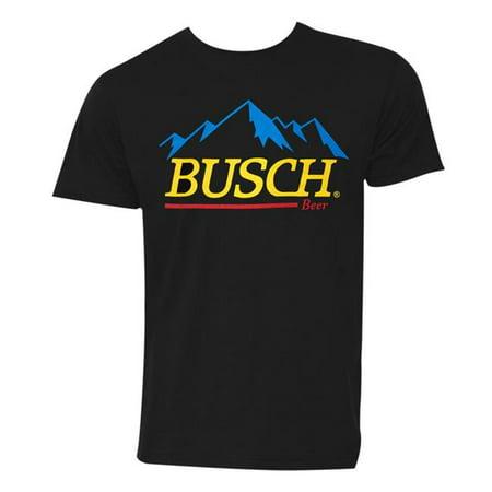 Busch 49036M Beer Gold Logo Black Tee Shirt, Medium