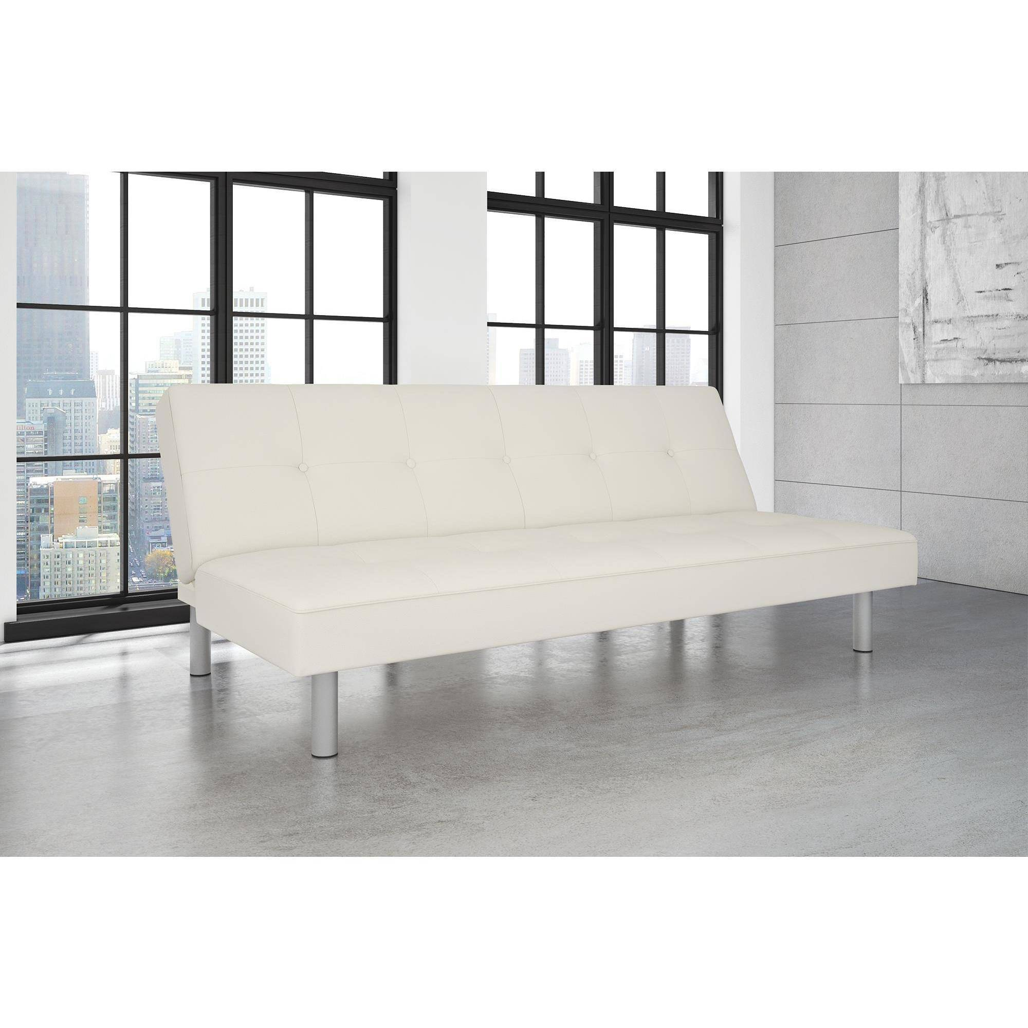 Dorel Home Nola Futon, White Faux Leather by Dorel Home Products