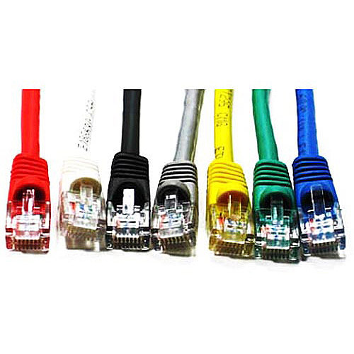 Link Depot 50' Ethernet Enhanced CAT6 Networking Cable, Assorted Colors