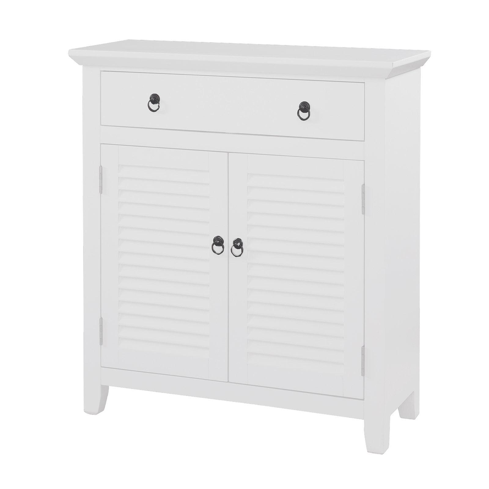 Shutter Door Console Cabinet, White - Walmart.com