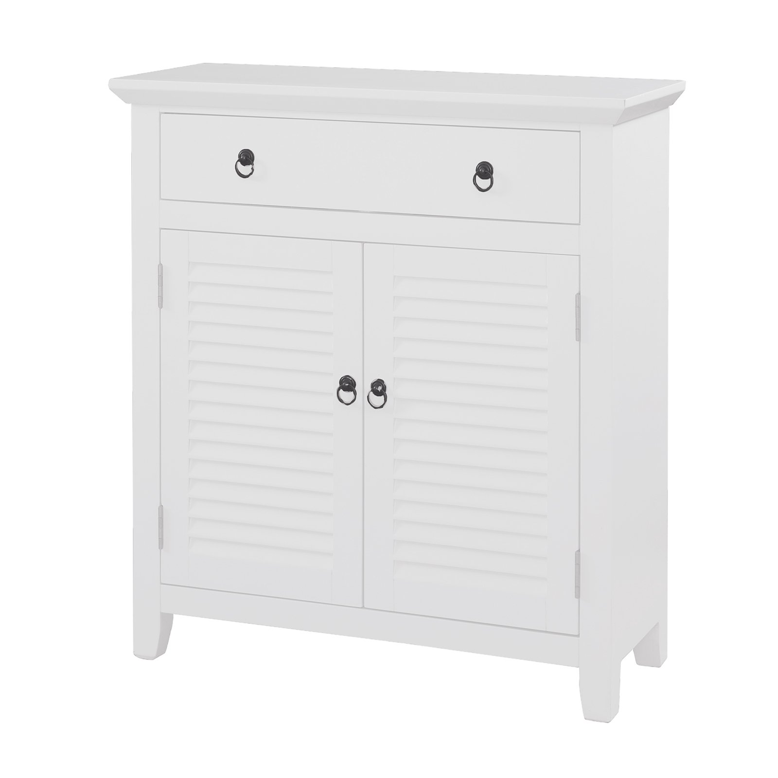 Superbe Powell Shutter Door Console Cabinet, White