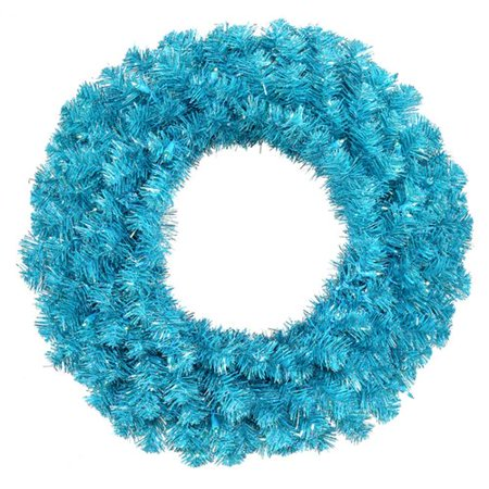 Fresh Wreath - Northlight Seasonal Fresh Lighted PVC/Holographic Laser Tinsel/Metal Wreath