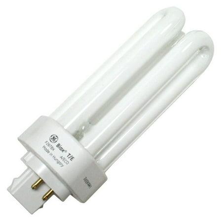 GE 97616 (10-Pack) F26TBX/835/A/ECO 26-Watt Energy Smart Ecolux Triple Tube Compact Fluorescent Light Bulb, 3500K, 1710 Lumens, 82 CRI, T4 Shape, GX24q-3 Base 42w T4 Gx24q 4 Base